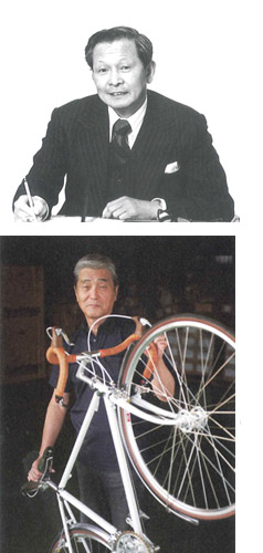 Junzo Kawai (top) and current chairman, Taki Takimoto.