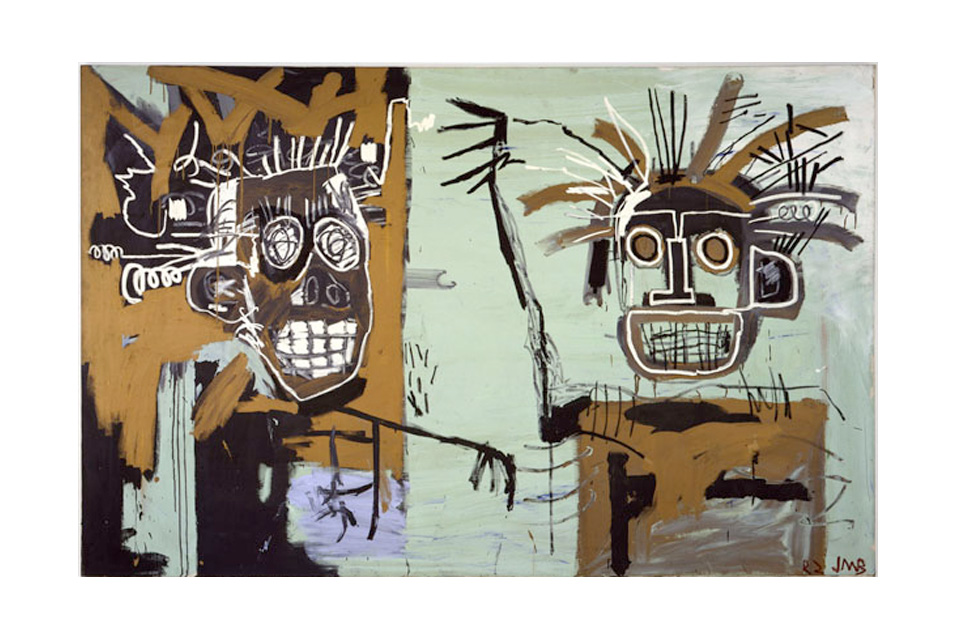 Untitled-Two-Heads-on-Gold-1982.-Acrylic-and-oil-stick-on-canvas.jpg