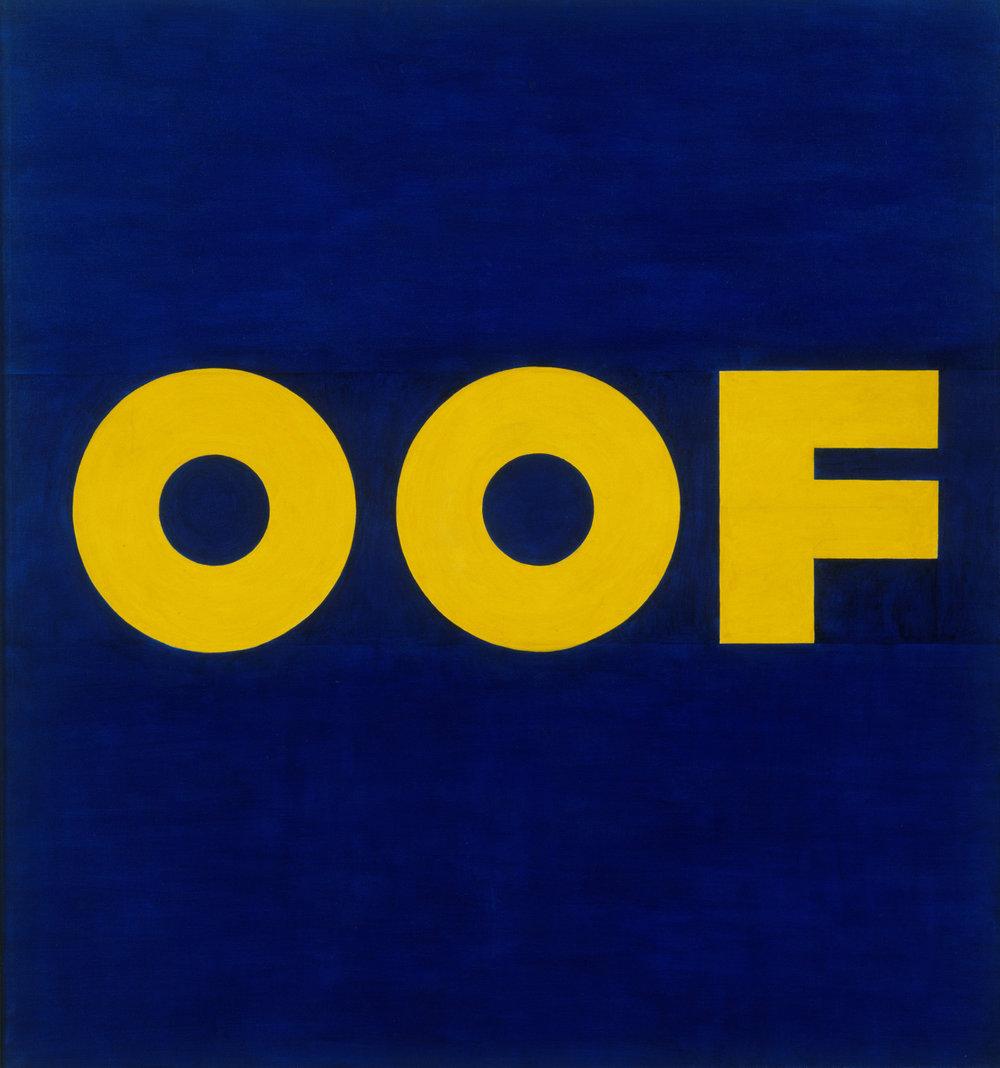 Ed Ruscha,  OOF ,1962.