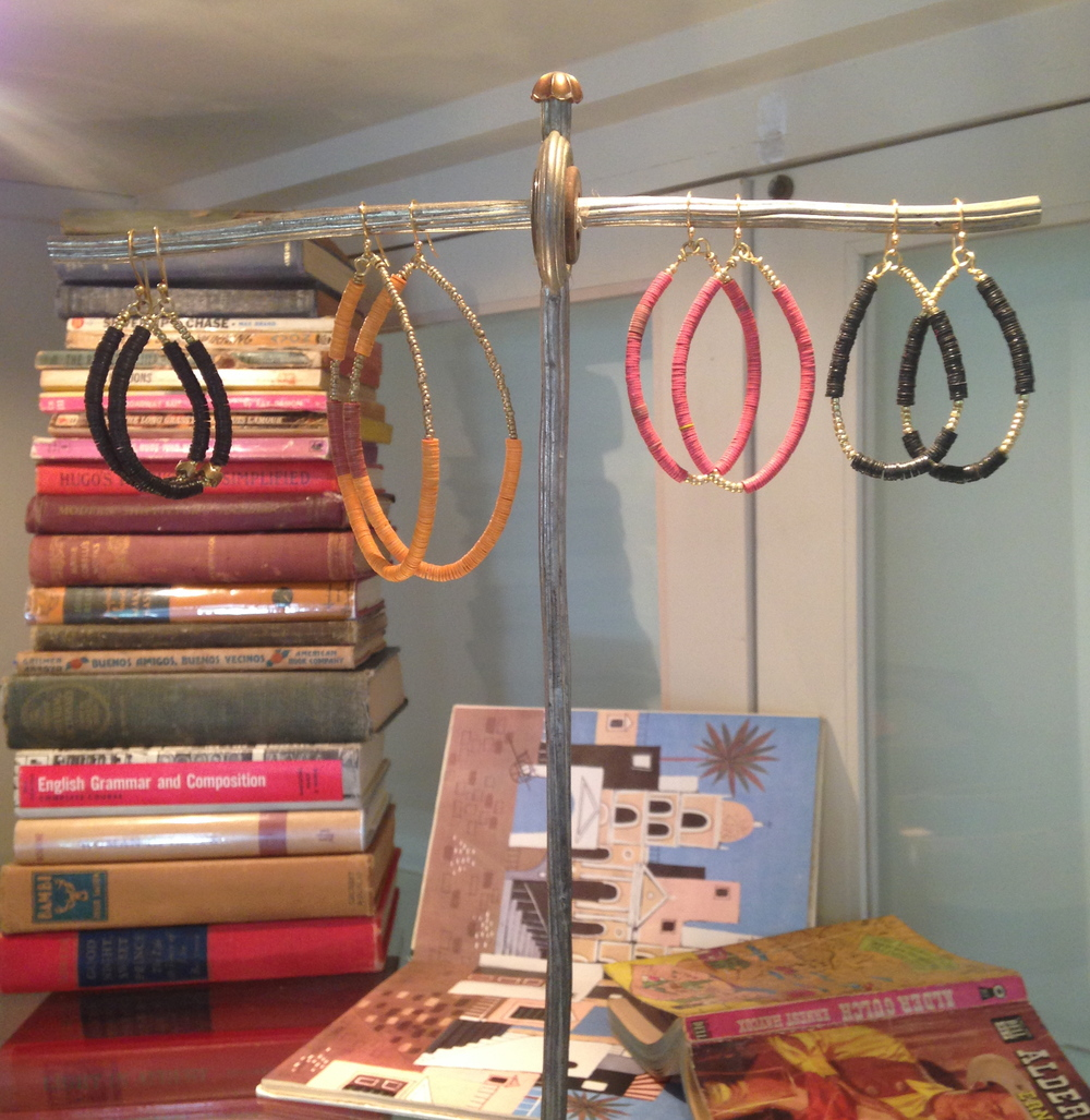 Oval African Bead Earrings.JPG
