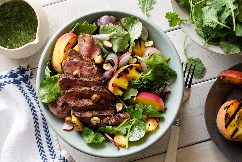B062_Grilled Steak Peach Salad Kale Ginger-Basil Dressing_Menu-Page.jpg