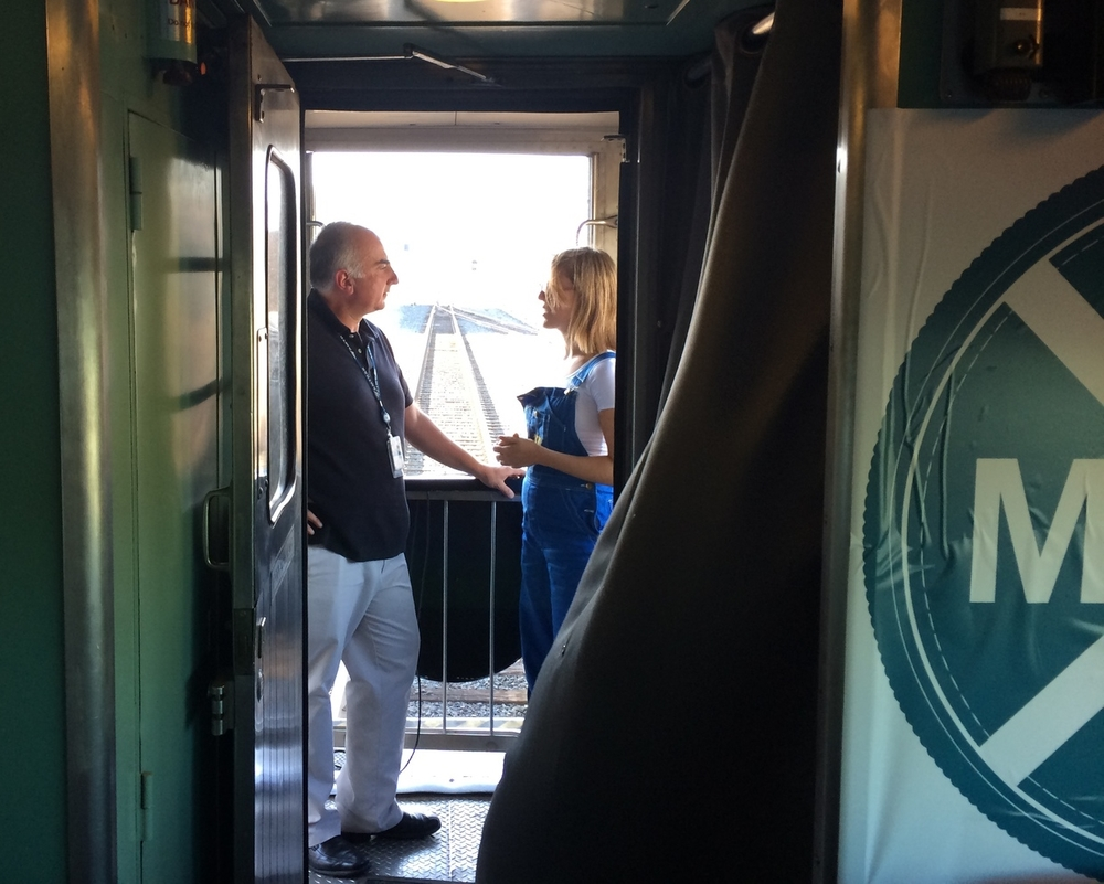 """An Amtrak official and former local Mayor hops on-board to lead a group discussion and offer mentorship toparticipants on our """"back porch"""" aswe ride through Montana."""