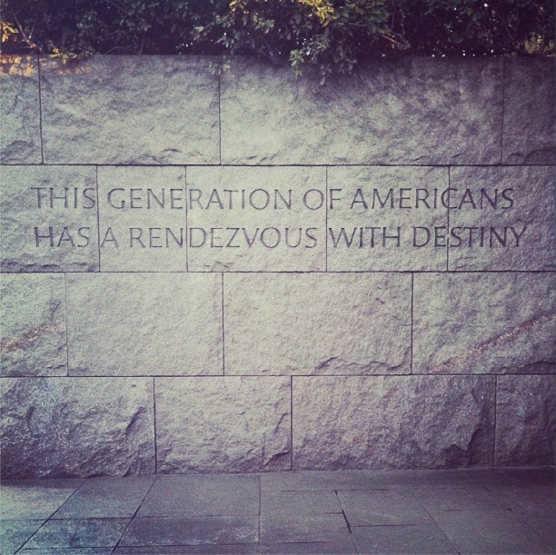 1/12/14  | FDR Memorial, Washington, DC.