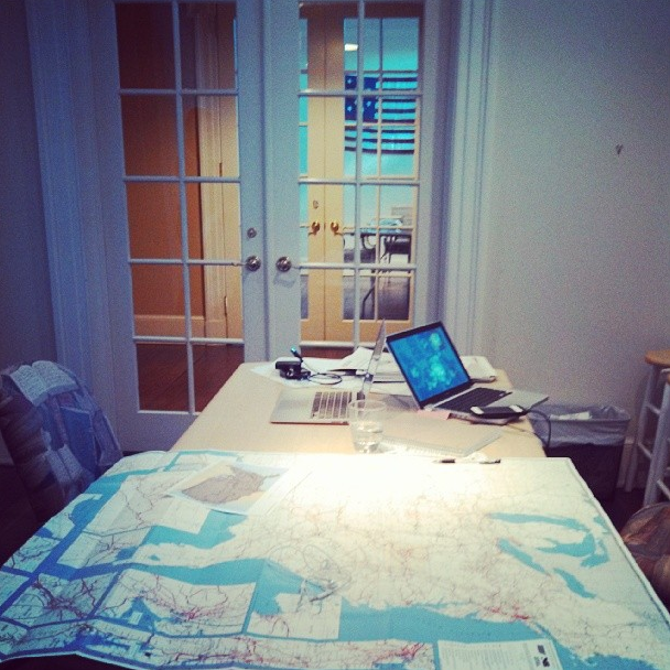 10/25/13  | The MTP map room at Halcyon House.