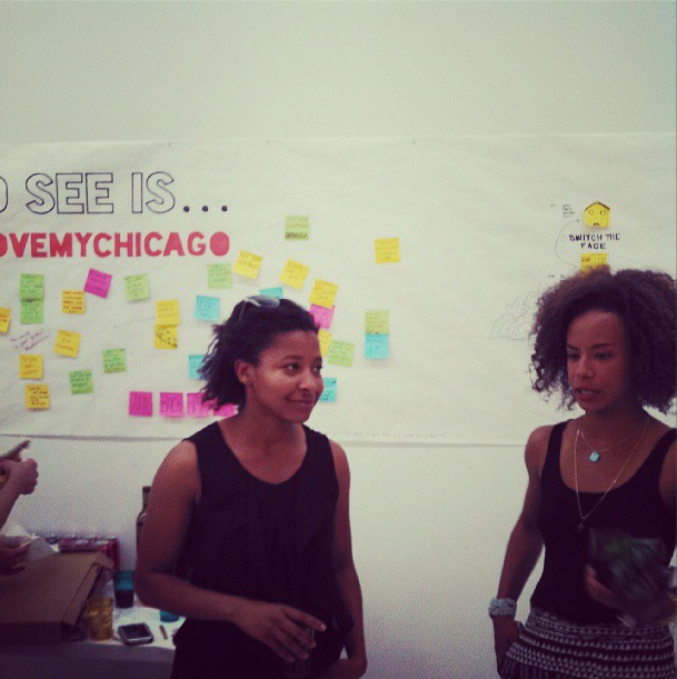 8/15/13  | MTP participants Autumn and Sacha at Greater Good Design studio, one of our local hubs.