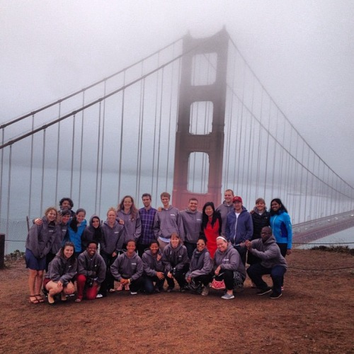 8/7/13  | The inaugural class of MTP pioneers takes in the majestic Golden Gate Bridge on the morning of our departure from San Francisco, CA.