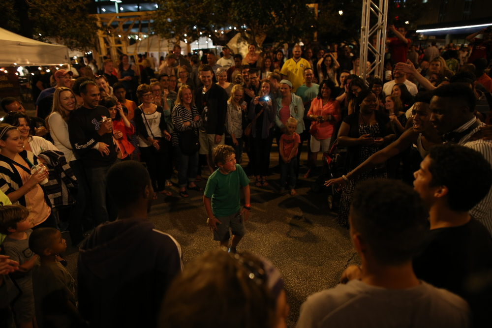 8/13/2014  | The break dancing competition was for all ages at the pop-up NEWaukee Night Market in Milwaukee, WI. The sense of community here is absolutely amazing. (Credit: Tyler Metcalfe, National Geographic Travel)