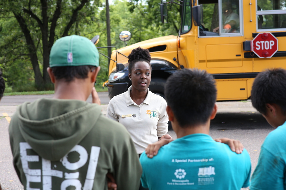 8/13/14  | MTP participant and USDA Forest Service employee Michaela Hall leads a workshop for local youth. (Credit: Tyler Metcalfe, National Geographic Travel)