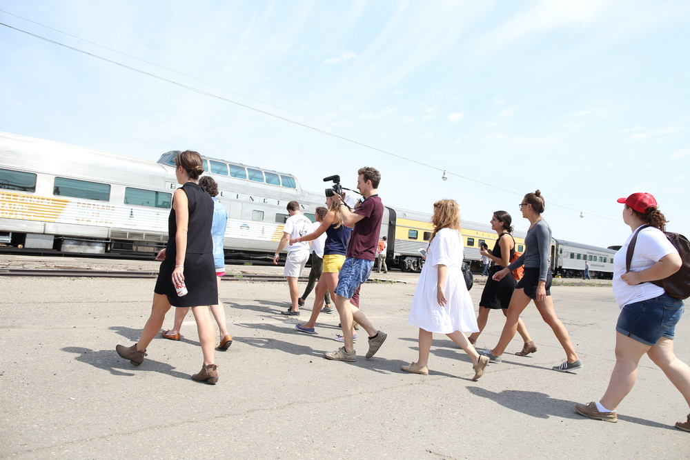 8/11/14  | A quick stopover in Minot, ND where we learned about the history of the famed Empire Builder route upon which we were traveling. (Credit: Tyler Metcalfe, National Geographic Travel)