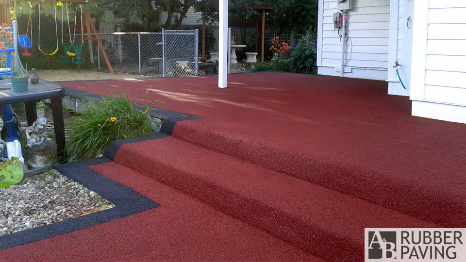 Steps & deck - Red with black border