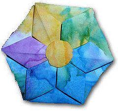 Folded Fabric Hexagon (Mary Anne Ciccotelli)