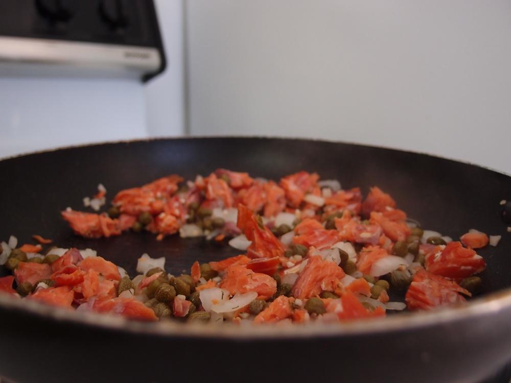 Saute Smoked Salmon.JPG