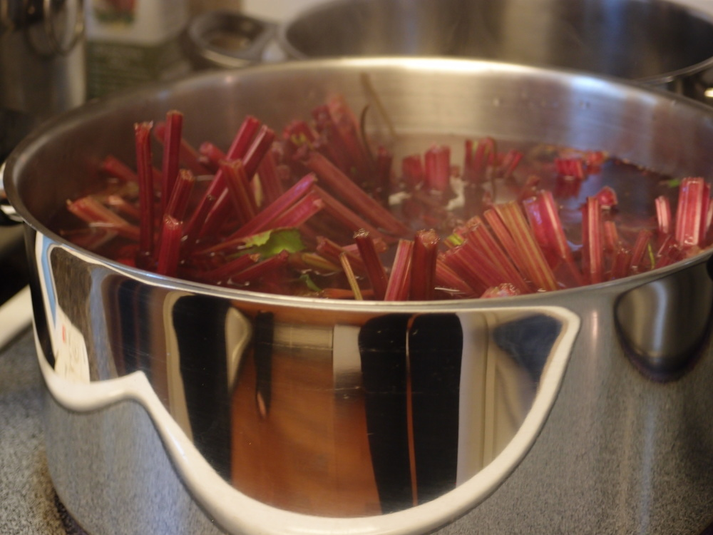 Washed Beets Boiling