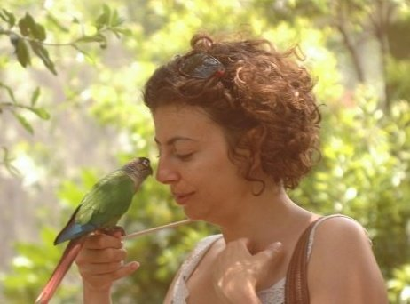 Suzi and tropical bird.jpg