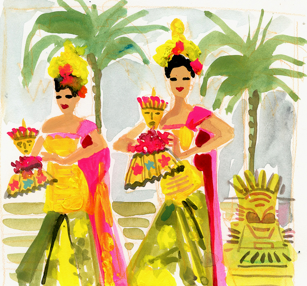 gaylekabaker.illustration.dancers. bali