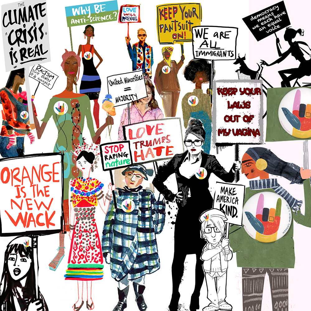 Collaborative Women S March Poster Gayle Kabaker