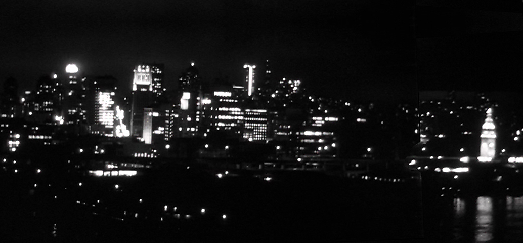 "The San Francisco skyline in Blake Edwards' 1962 film ""Experiment in Terror"", with a soundtrack by Harry Mancini."