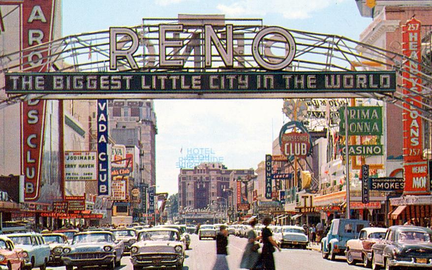 Reno Nevada Casino Strip Map - Reno hotels map