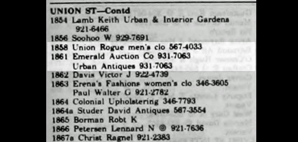 1972 City Directory