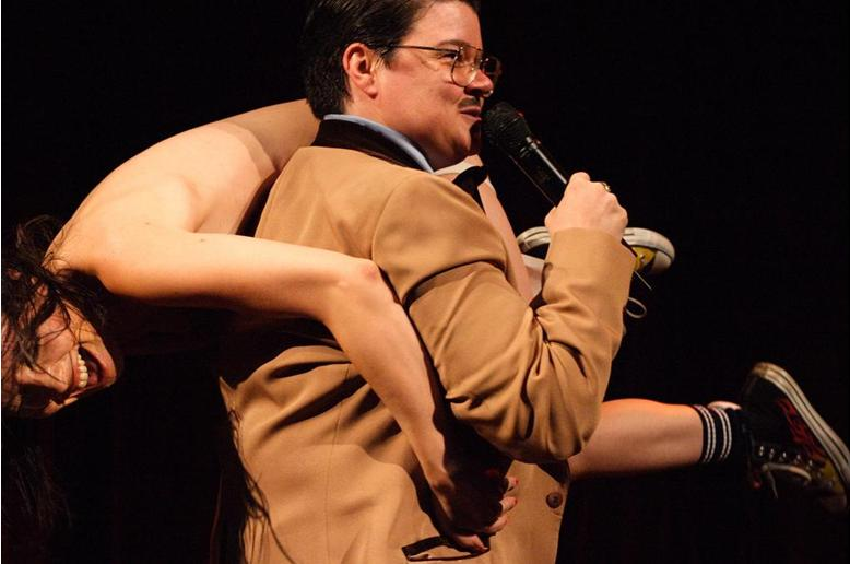 Exiting NY Burlesque Festival with MC Murray Hill. Photo by Norman Blake.