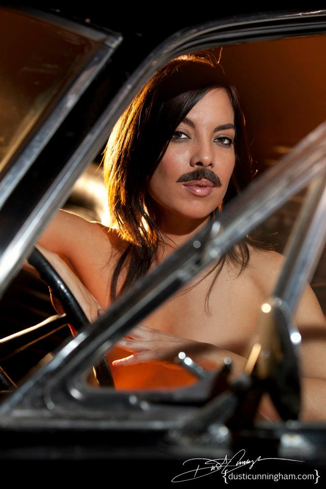 Pretending to be Burt Reynolds in  Smokey & the Bandit . Pic by Dusti Cunningham.