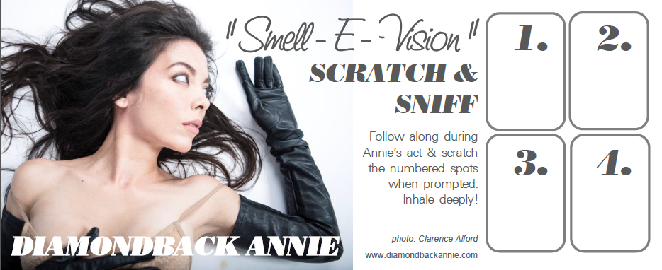 Diamondback Annie - Scratch N Sniff burlesque card.png