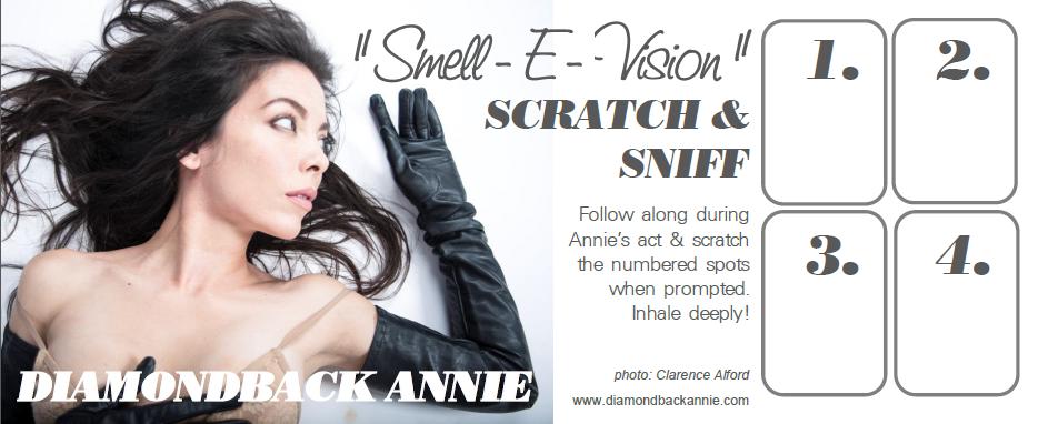 Diamondback Annie - Scratch N Sniff burlesque card.png
