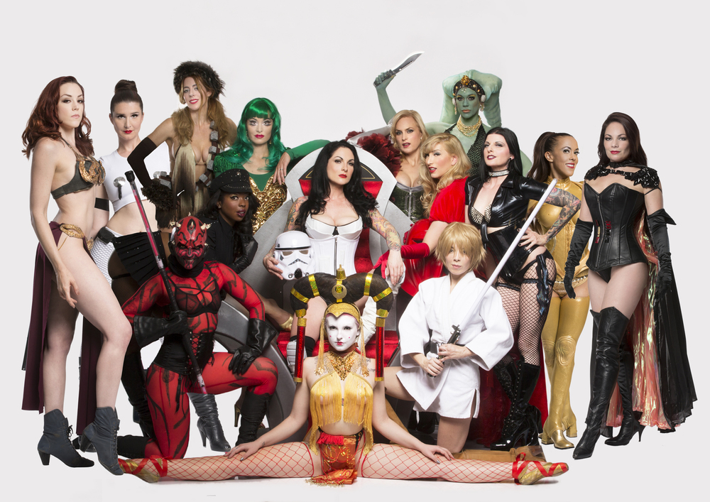 Star Girls cosplay burlesque by Michael Helms