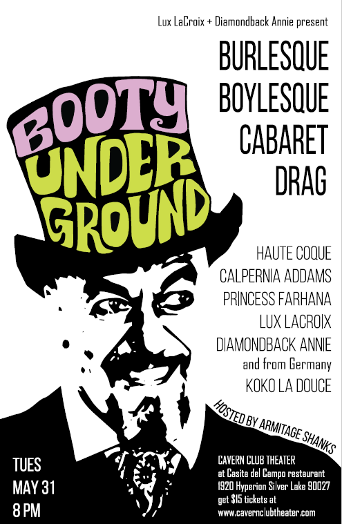 """Seattle ringmaster Armitage Shanks, the """"Carny Preacher,"""" is the special guest host at the May edition of Booty Underground."""