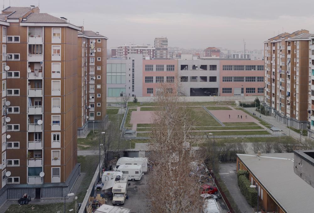 """Ansicht der """"Case Rosse"""", Mailand, 2011"""