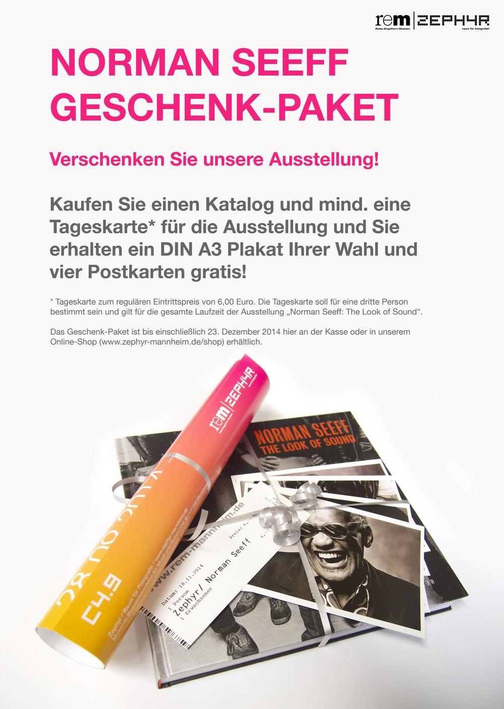 Norman Seeff: The Look Of Sound Geschenkpaket (Ausstellungskatalog, Plakat, Postkarten-Set, Tageskarte) ab 35,95 €