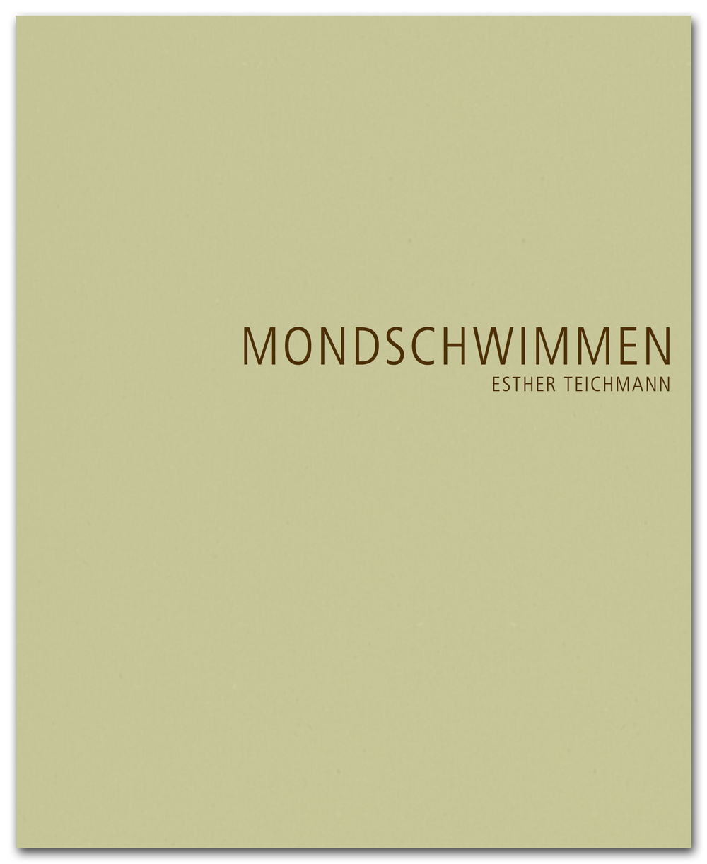"Artist Book ""Mondschwimmen""   Esther Teichmann   The artist book ""MONDSCHWIMMEN"" will be published on the occasion of the exhibition. With numerous illustrations and three short stories by Esther Teichmann (german / english).  Price: 35 € 48 pages, 25 images, 21,5 x 26,5 cm, Hardcover Edition:  400 Exemplare ISBN-13: 978-0-9556751-3-3 Editor: Alfried Wieczorek, Thomas Schirmböck, rem gGmbH Release date: June 2015"
