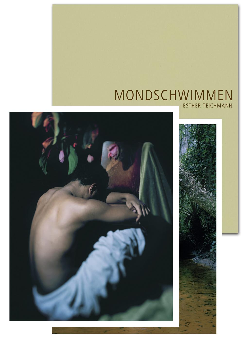 """Edition 1 Esther Teichmann """"Mondschwimmen""""  Katalog deutsch / englisch, signiert, nummeriert, mit zwei analogen C-Prints Auflage 100   Preis: ab 100 €"""