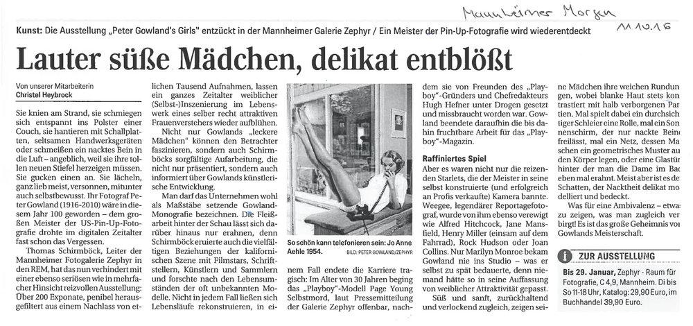 Mannheimer Morgen, 11.10.2016