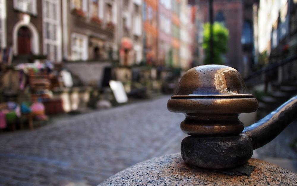   Gdańsk  : ul.Mariacka, stair detail