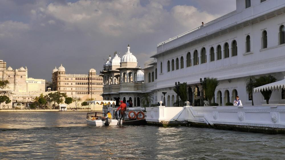 The Taj Lake Palace on Lake Pichola
