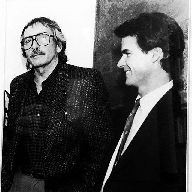 My dad with Albee, 1988. RiP #edwardalbee #matthewroudane