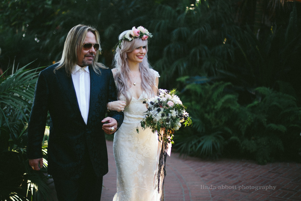 elle neil, vince neil, santa barbara, wedding