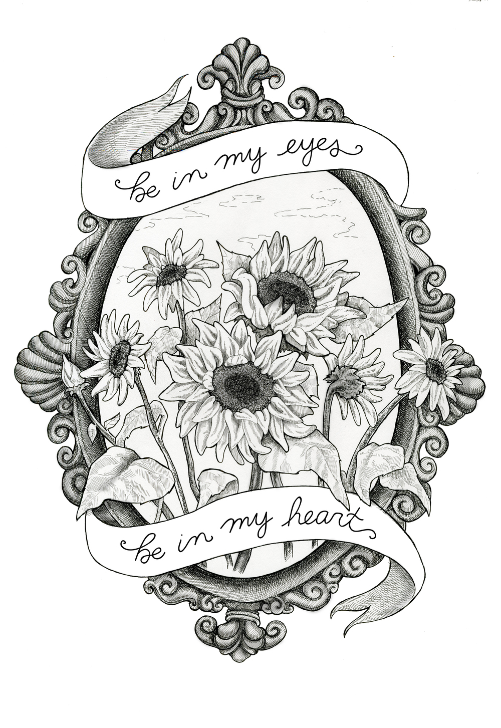 """Flowers In Your Hair""  - ersonal piece I did using the lyrics of the song ""Flowers in Your Hair"" by the Lumineers.   Lyrics belong to The Lumineers."