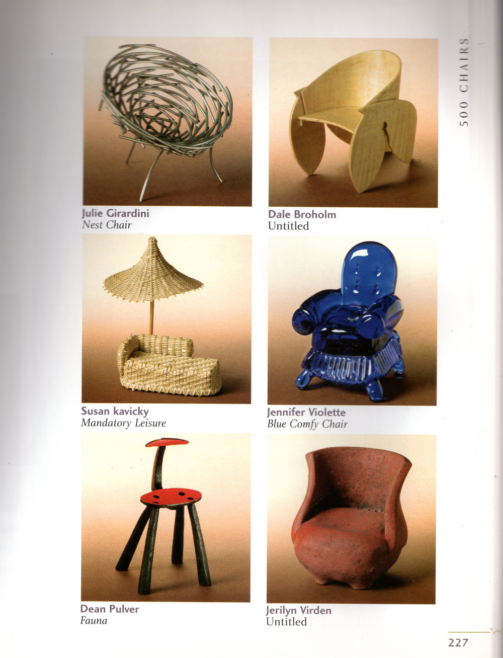 500 Chairs, in conjunction with CERF fundraiser. page 227