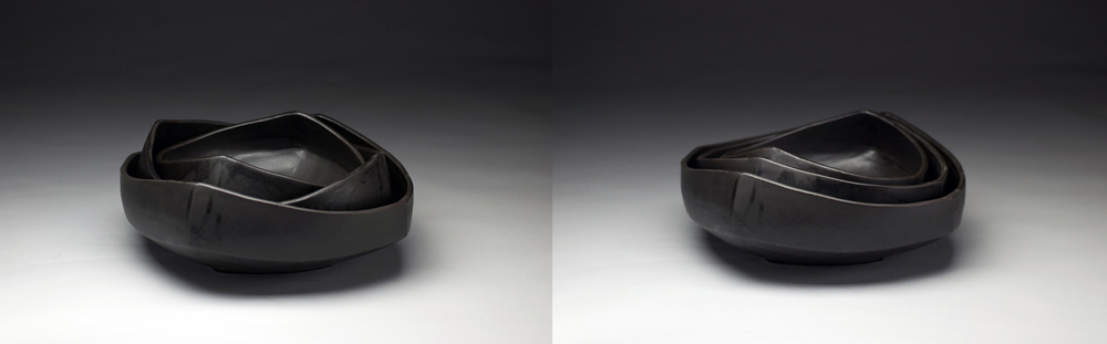 Square Nesting Bowls (Black)