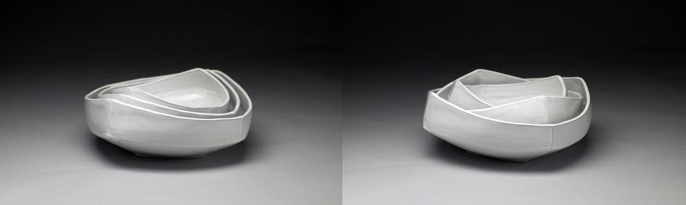 Square Nesting Bowls (White)