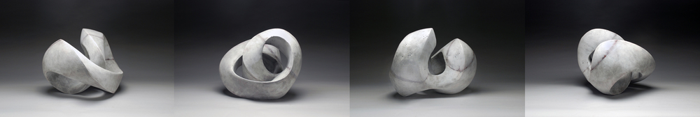 """Recoil"" Series (white on white glaze) 2015"