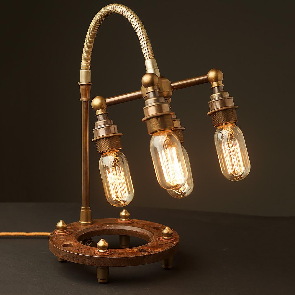 Charming Multi Bulb Heavy Table Lamp