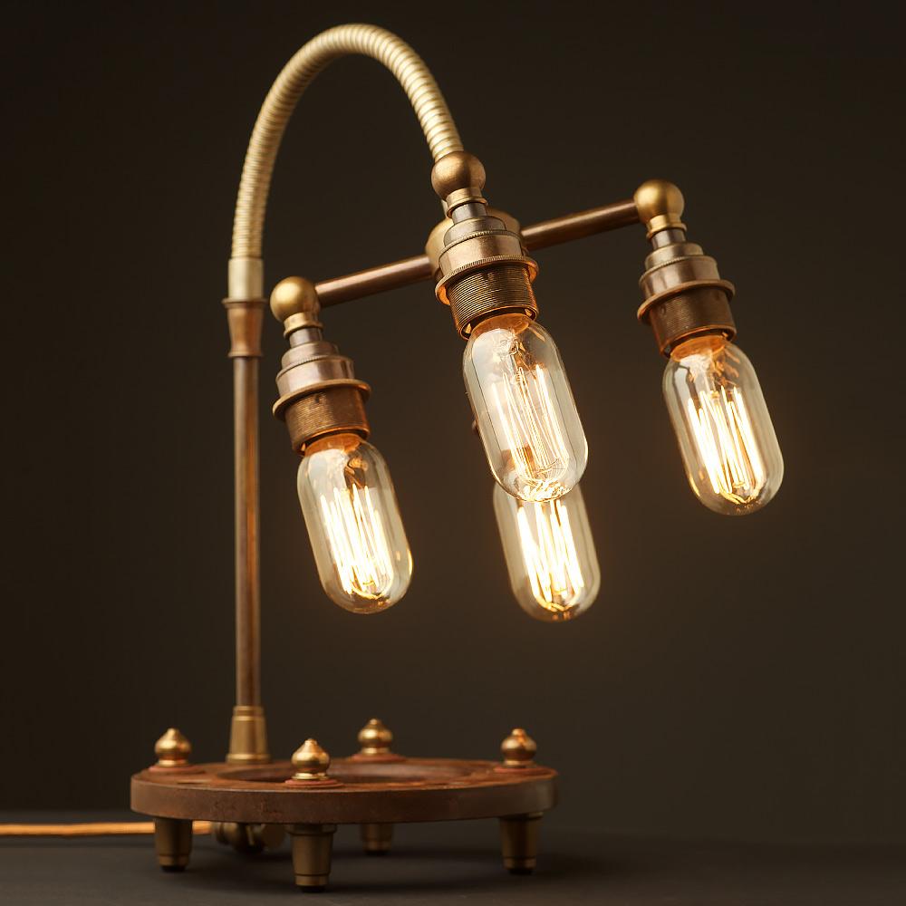 Good Multi Bulb Heavy Table Lamp