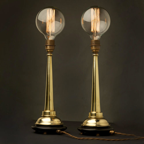 Small brass fire hose nozzle table lamp aloadofball Image collections