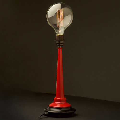 Small powder coated brass fire hose nozzle table lamp aloadofball Image collections