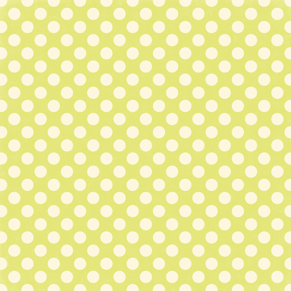 lime green dots