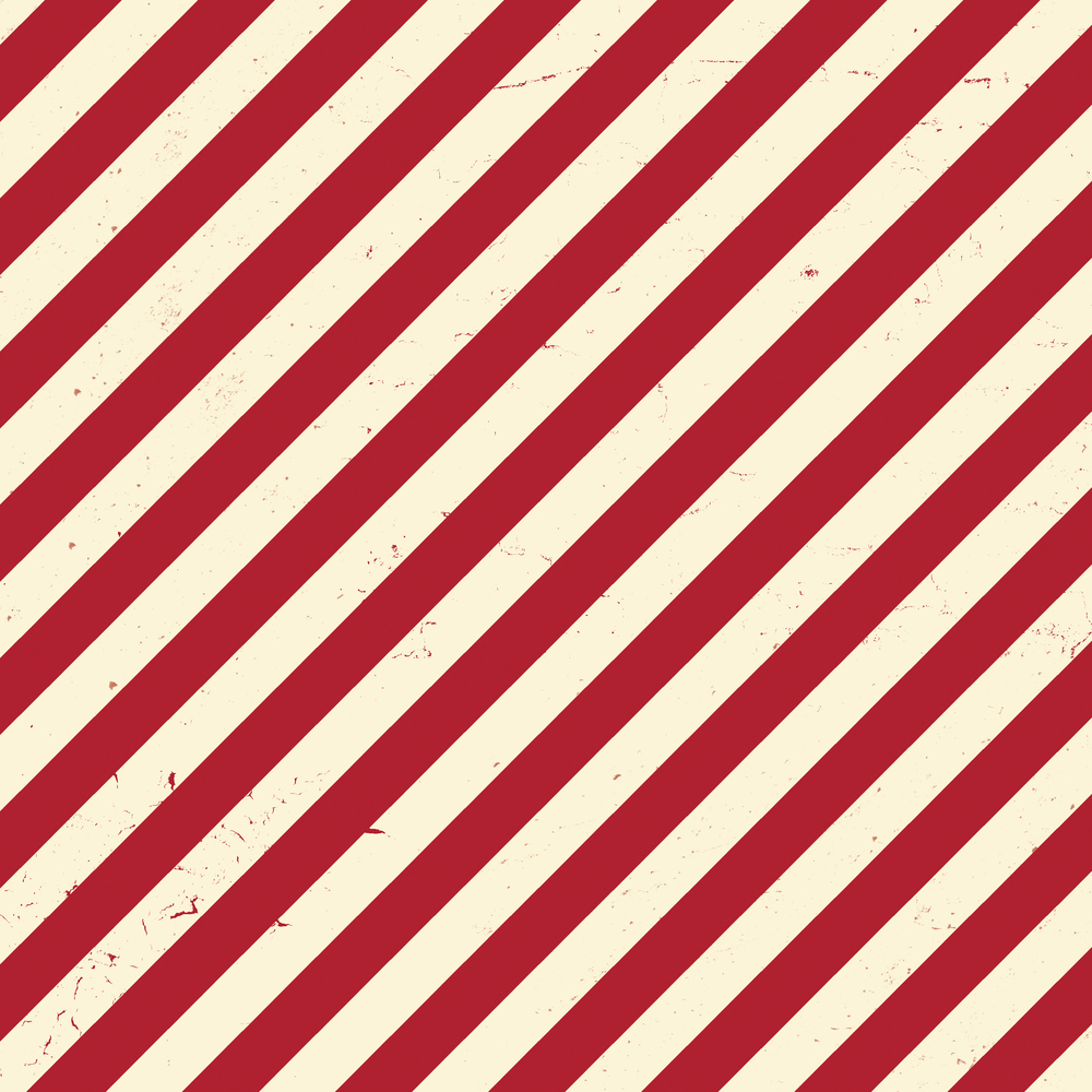 red & white diagonal