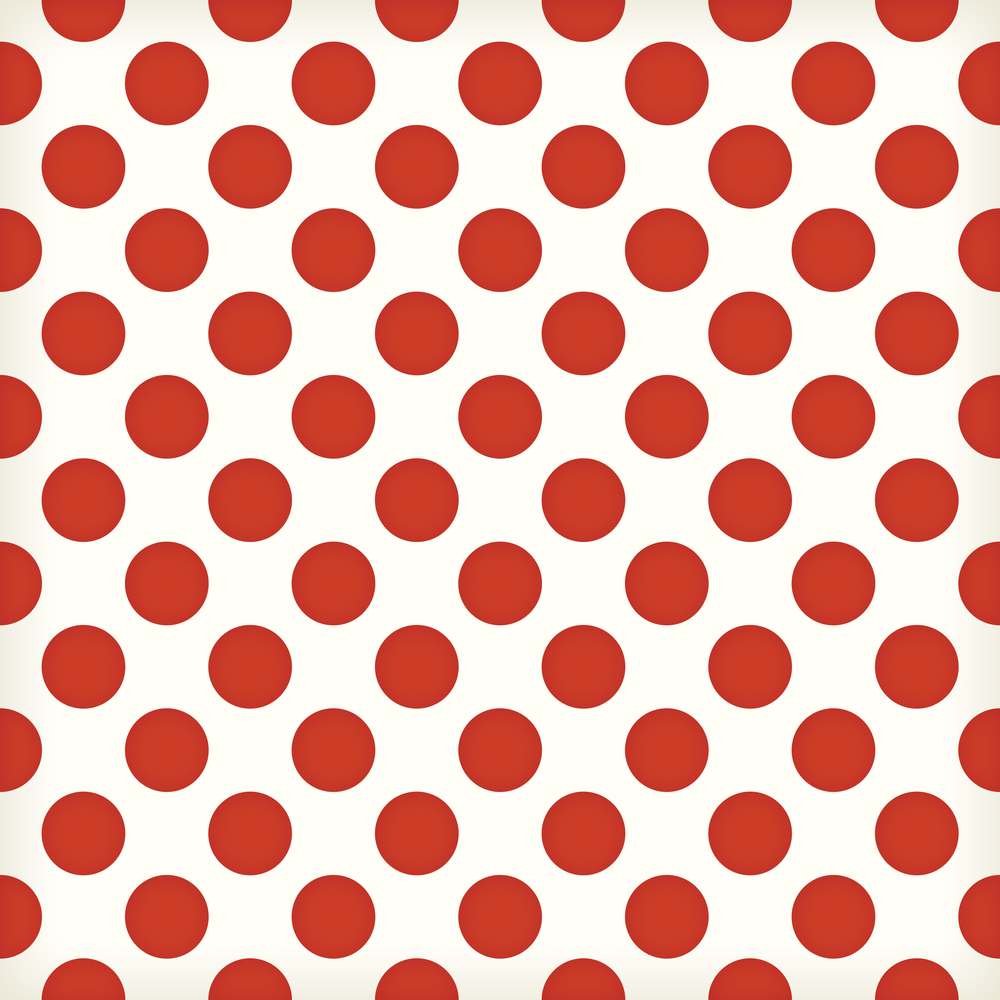 large red polka